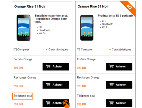Promotion Smartphones Orange