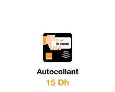 Autocollant Smart Recharge Orange à 15 Dh
