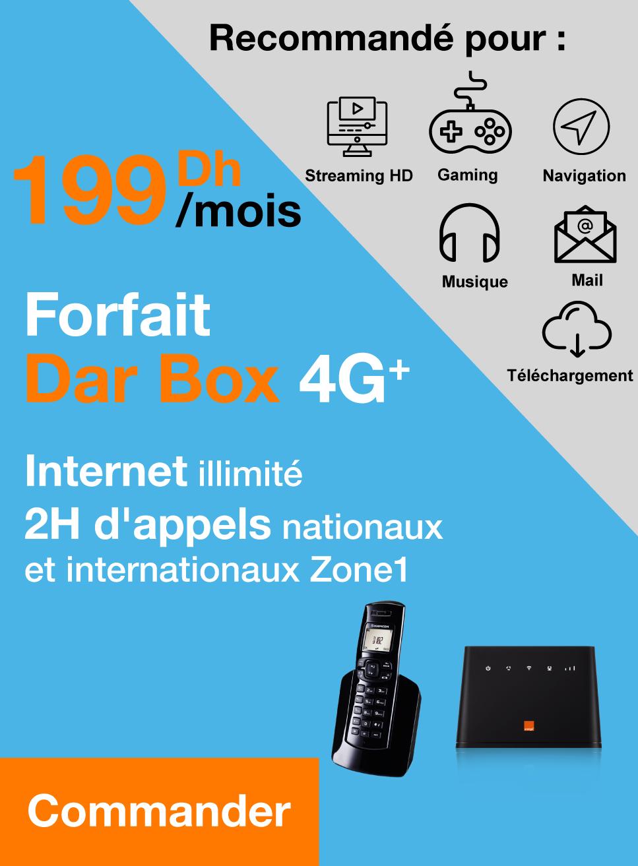 Internet illimité 2H d'appels nationaux et internationaux Zone1