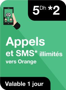 Appels et SMS illimités vers Orange