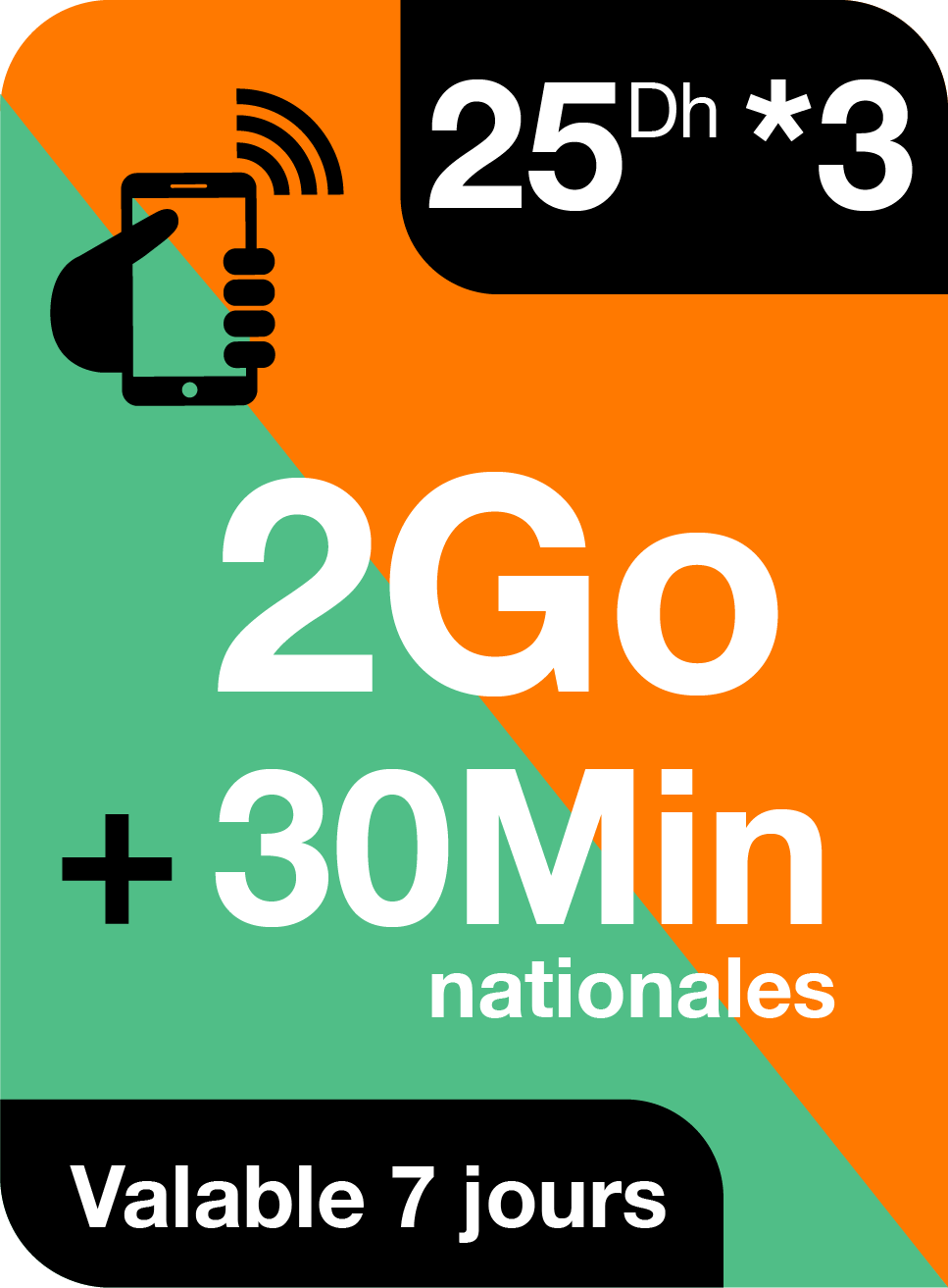 2Go + 30 min nationales