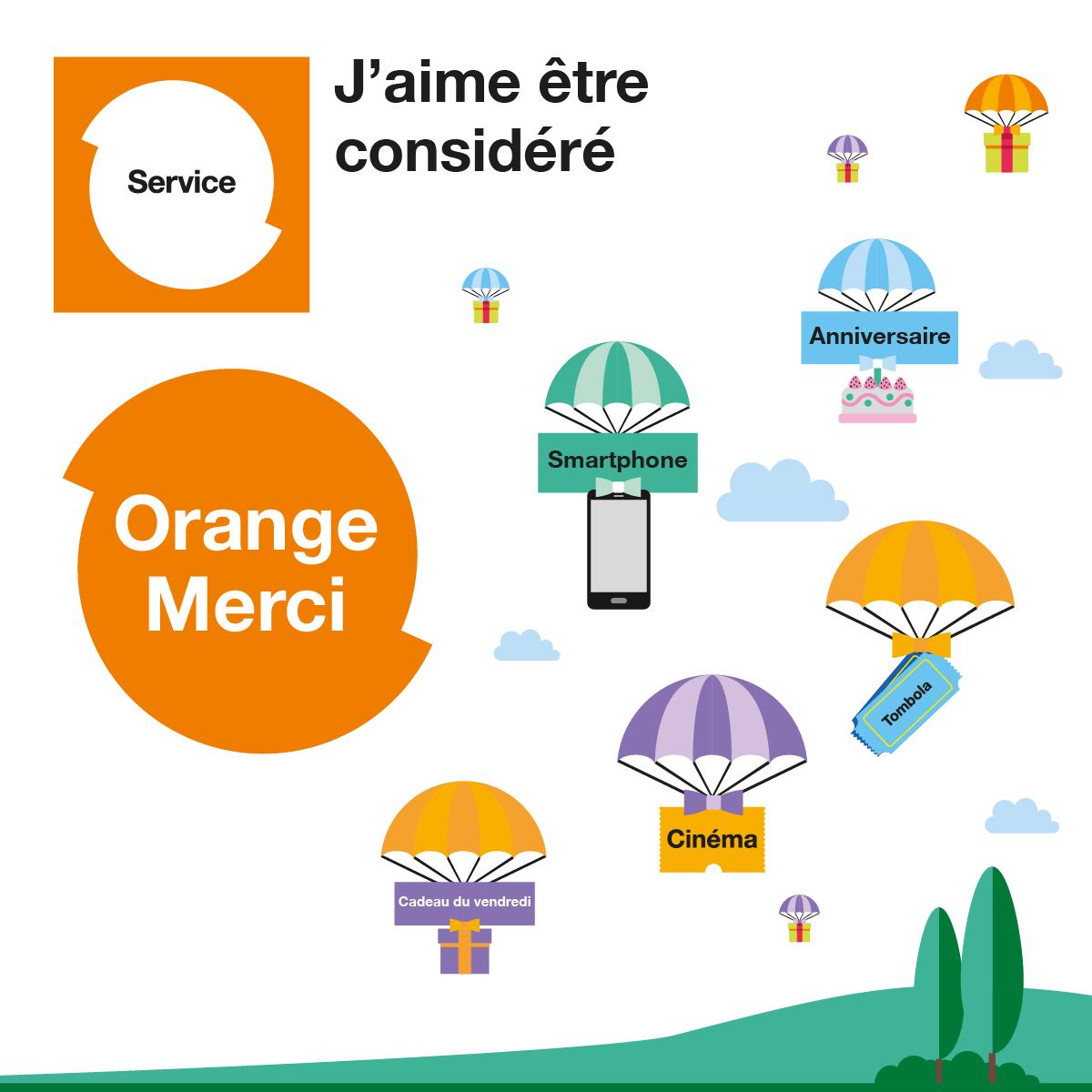 Cadeaux Orange Merci pour les clients Orange recharges - Orange d789f2fc630